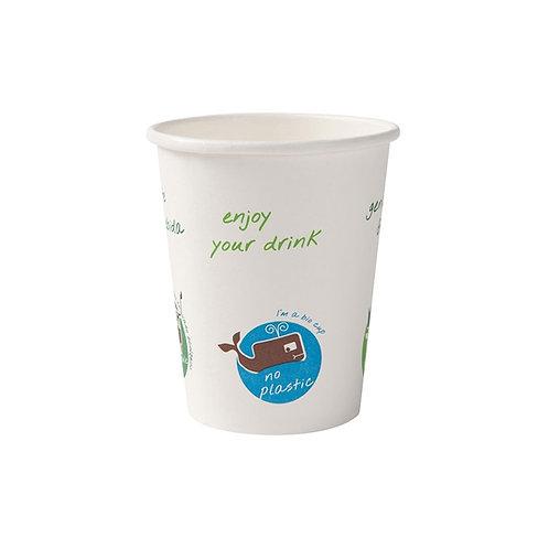Οικολογικό χάρτινο κύπελλο με τύπωμα 200 ml