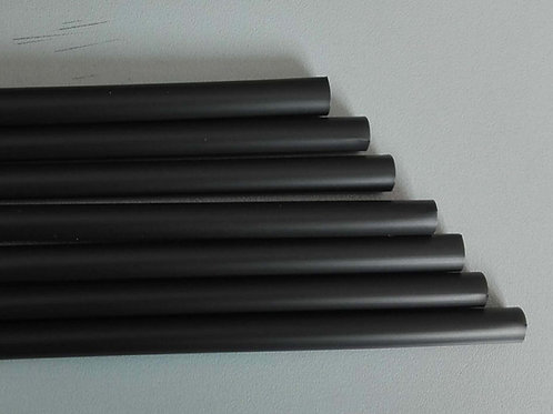 Καλαμάκια PLA 21 εκ.Χ 6 μαύρο