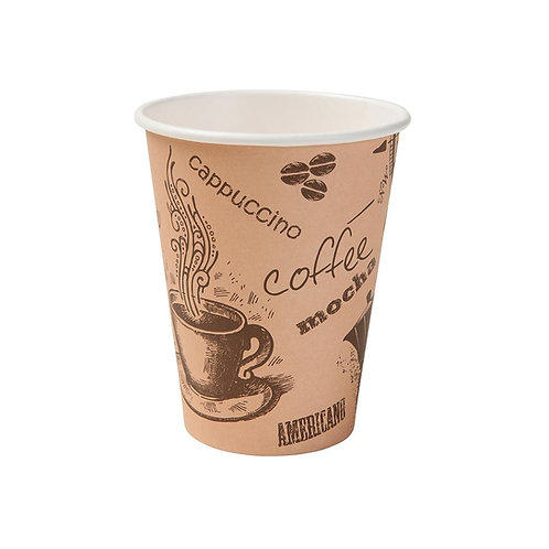 Οικολογικό χάρτινο κύπελλο με τύπωμα 300 ml