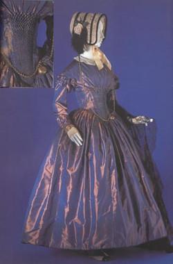 Iridescent Taffeta Dress, 1845