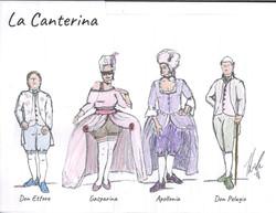 La Canterina Costume Sketch