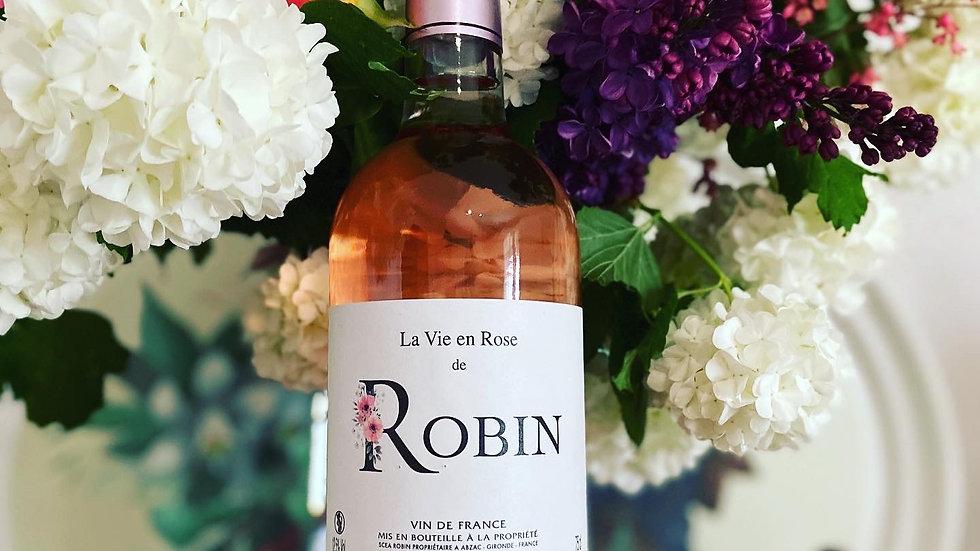 Rosé La Vie en Rose de ROBIN en carton de 6 x 75cl