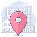 endereço fiscal, localização icon