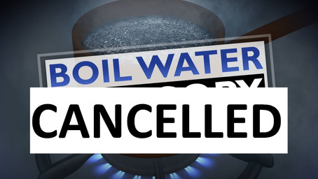 BOIL WATER ADVISORY RESCINDED – EFFECTIVE IMMEDIATELY