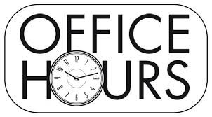 NEW OFFICE HOURS AT TOWN HALL!