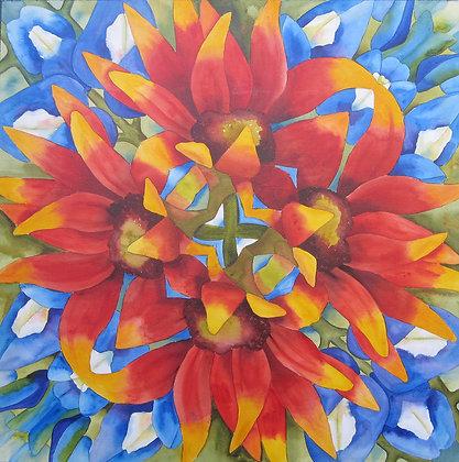 """Wildflowers 12"""" x 12"""""""