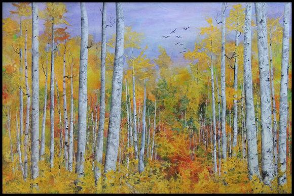 "Autumn Flight  24"" x 36"" Framed"