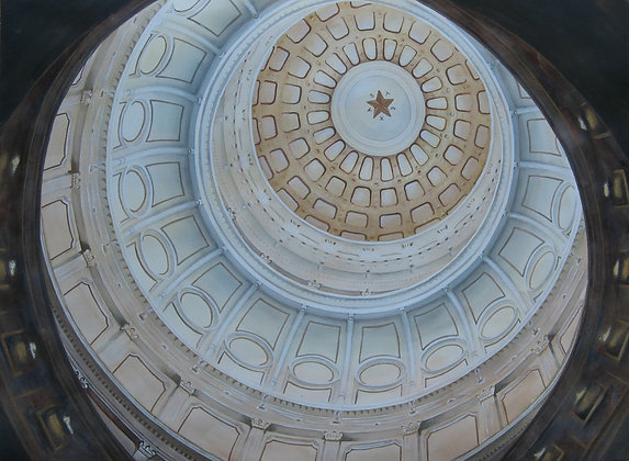 Texas Capital Dome 12 x 18""
