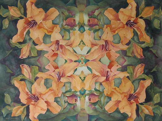 "Radiating Daylilies 11"" x 14"""