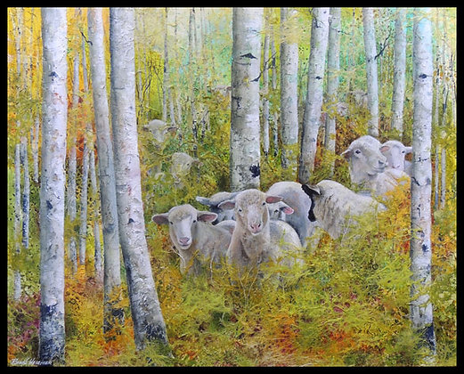 "In Deep Sheep 24"" x 30"""