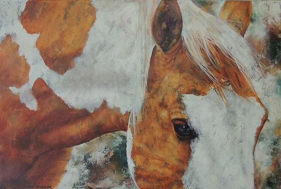 """Horse Sense 24"""" x 36"""" acrylic"""