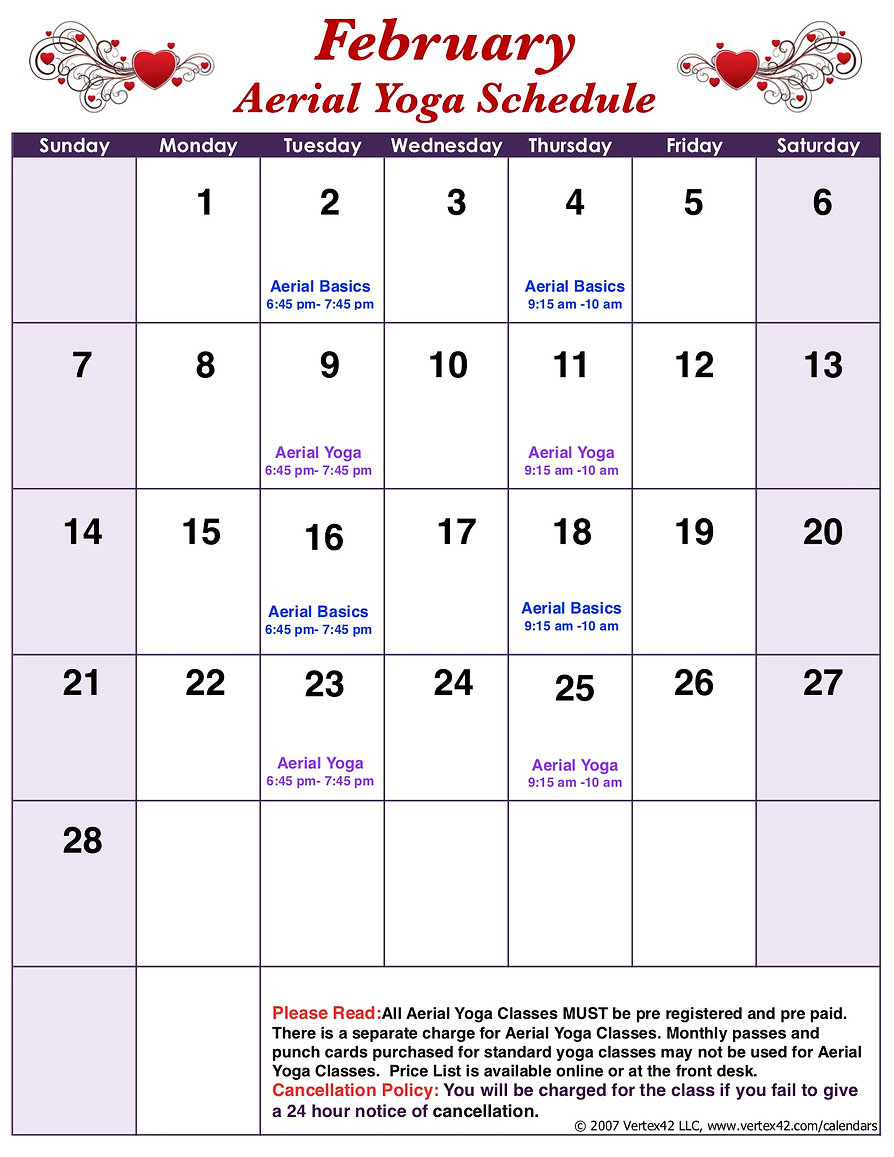 B  Monday Template Aerial Schedule copy