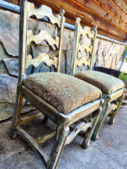 Vintage Paisley Sweetheart Chairs
