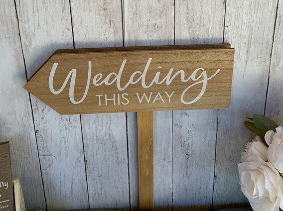 Wedding stake sign (double sided)