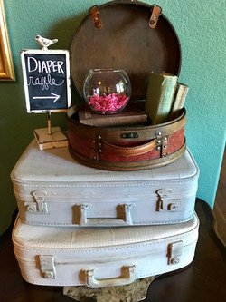 Vintage Suitcases & Train Case