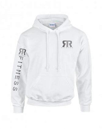 White thick hoodie