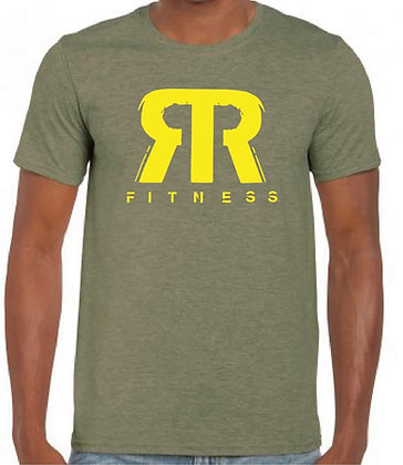 Green t-shirt with yellow RR
