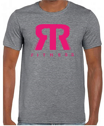 Grey t-shirt with pink RR