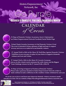 Domestic Violence Awareness Calendar of