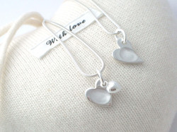 Fingerprint heart charms