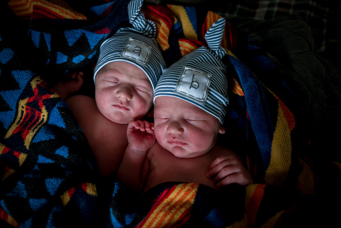 The Twin Home birth Story of Major and Wilder