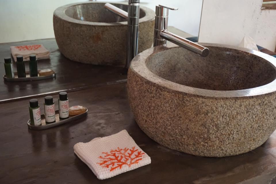 Salle de bain Lodge Terres blanches