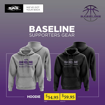 Baseline Basketball Limited - Supporters Hoodie - $54.95 to $59.95