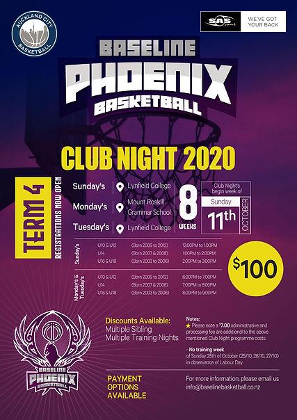 Phoenix Basketball - Club Night 2020 - T