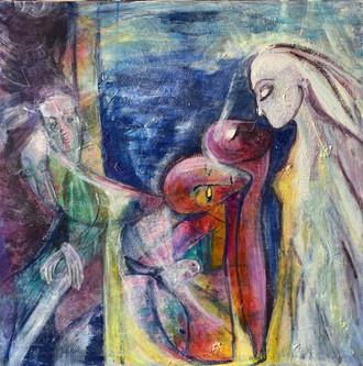 Dante symphony 2003 acrylic on canvas 120x120 cm