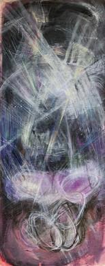 Untitled acrylic on canvas 200x80 cm