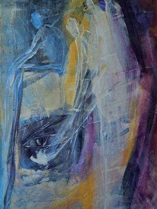Soulguarding 2004 acrylic on canvas 50x40 cm