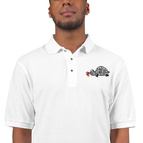 """Men's Premium Polo with embroidered """"The Fireturtles Logo"""""""