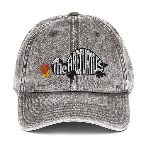 Vintage Cotton Twill Cap with The Fireturtles logo puffy Embroidery