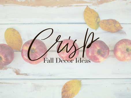 Crisp Fall Decor Ideas
