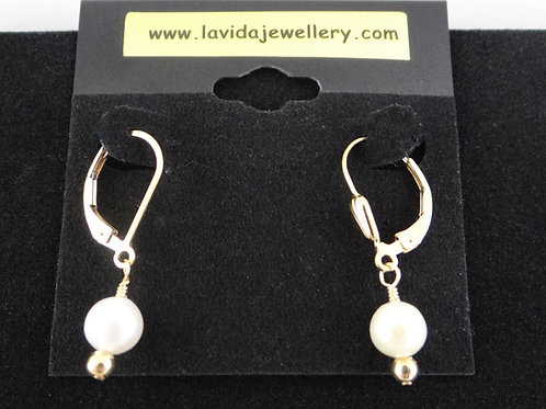 Pearl and Gold Filled Earrings