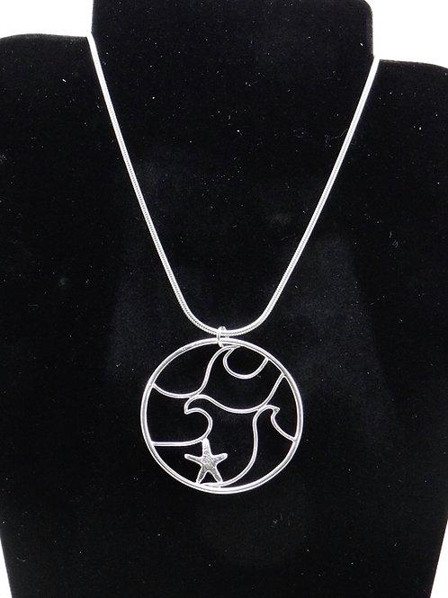 """""""Fun in the Sea"""" Argentium and fine silver filigree pendant"""