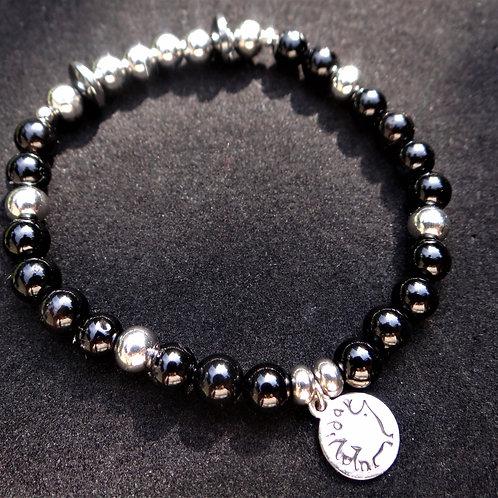 Hematite and Onyx Bracelet