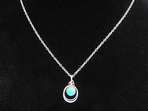 Turquoise and Sterling Silver 'Vortex' Pendant