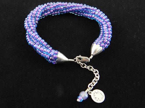 Purple Kumihimo Bracelet