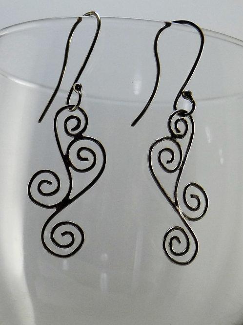 Filigree swirl earrings