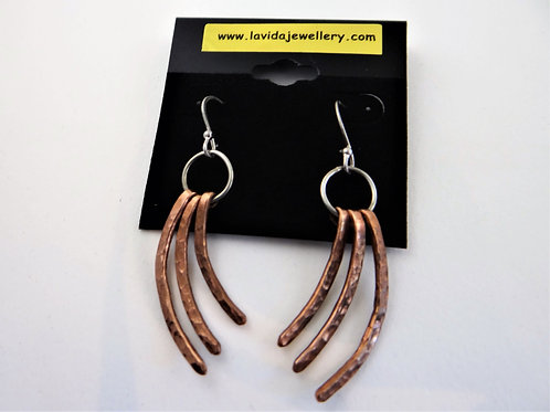 "Copper ""Waves"" earrings"
