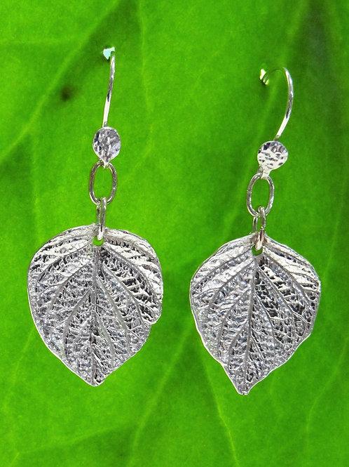Fine silver Hydrangea earrings