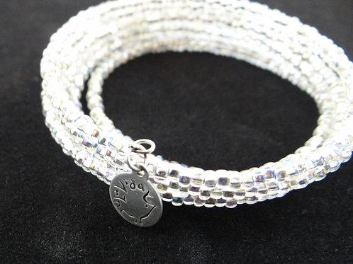 Glittering memory wire bracelet
