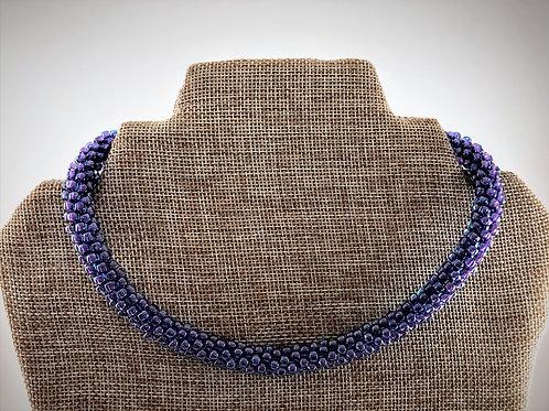 Purple Kumihimo Choker