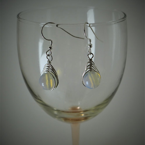 Moonstone Herringbone Earrings