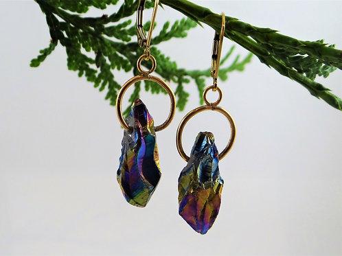 Rainbow Fire Earrings