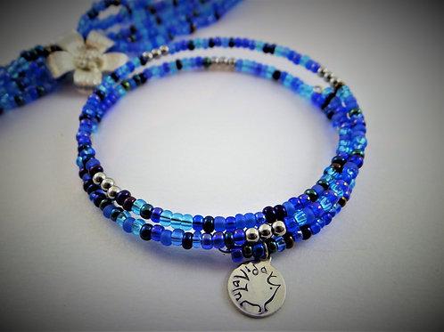 """Shades of Blue"" bracelet"
