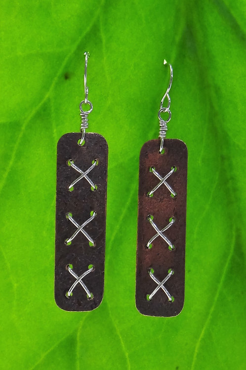 """All Laced Up"" earrings"