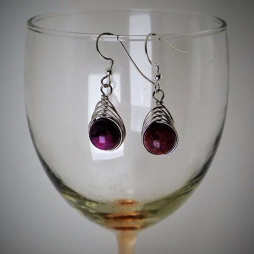 Pink Herringbone Earrings