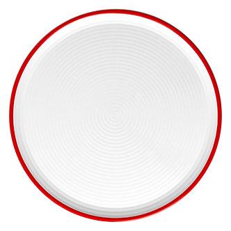 Melamine Pizza Plate 12-inch      Red Trim